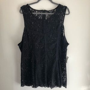 See-through Lace Peplum Top